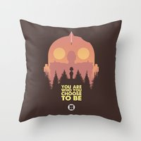 iron giant Throw Pillows featuring I love you Giant by VineDesign