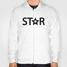 Star creative typography design Hoody