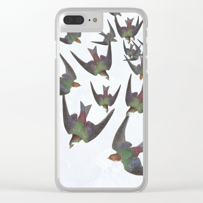 Dipping and dancing barn swallows Clear iPhone Case