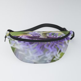 Purple Passiflora Fanny Pack