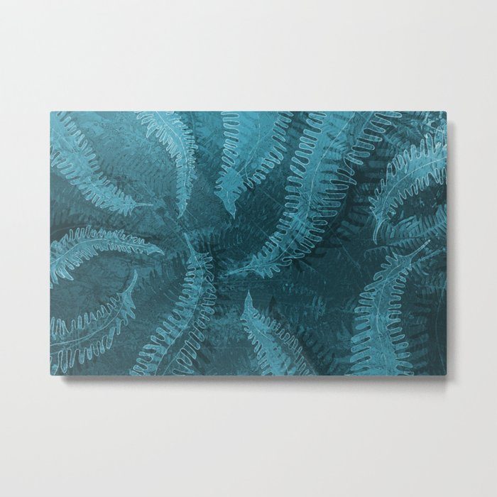 Ferns (light) abstract design Metal Print