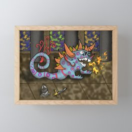 The Doodlethwumpus Beastie Framed Mini Art Print