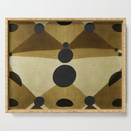 """African retro pattern (Ethnic)II"" Serving Tray"