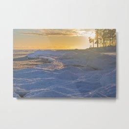 Freezing sea, Finnish gulf Metal Print
