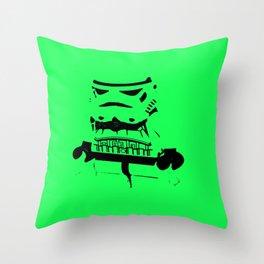 Pop Art Trooper Throw Pillow
