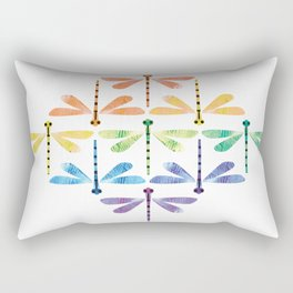 Rainbow Damselflies Rectangular Pillow