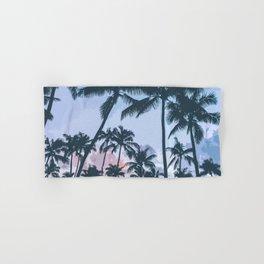 Tropical Palm Trees Silhouette Hand & Bath Towel