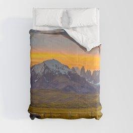 Patagonia Sunset Photo Comforters
