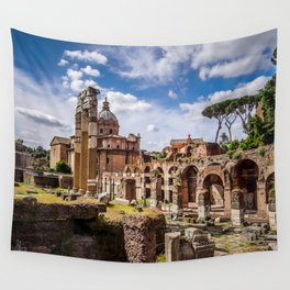 Roman Ruins Wall Tapestry
