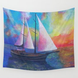 Bodrum Turquoise Coast Gulet Cruise Wall Tapestry