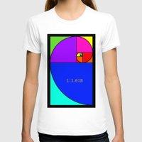 fibonacci T-shirts featuring Fibonacci Spiral by Arts and Herbs