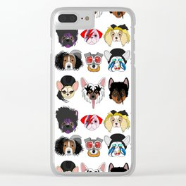 Pop Dogs Clear iPhone Case