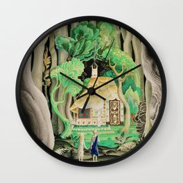 1925 Classical Masterpiece 'Hansel and Gretel by Brothers Grimm' by Kay Nielsen Wall Clock