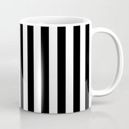 Large Black and White Cabana Stripe Coffee Mug