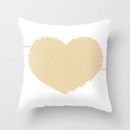 Heart Circuit Throw Pillow
