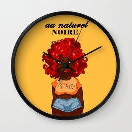 Au Naturel Noire Wall Clock