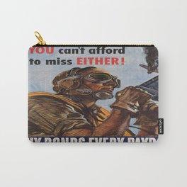 Vintage poster - War Bonds Carry-All Pouch