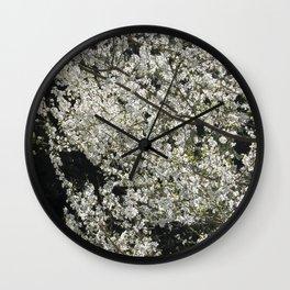Blooming wild plum Wall Clock