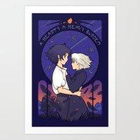 Something I Want to Protect (Dark Version) Art Print