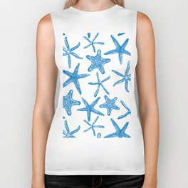 Sea stars in blue Biker Tank