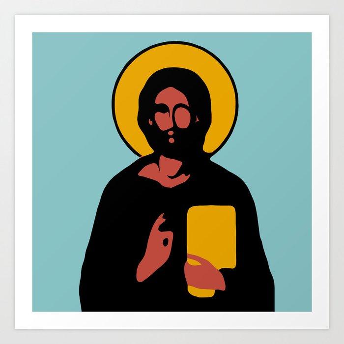 Christus Vector Blue Kunstdrucke