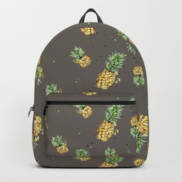 Kaki pineapple pattern Backpack