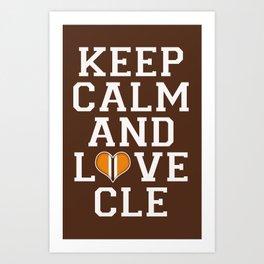 LOVE CLE BROWNS Art Print
