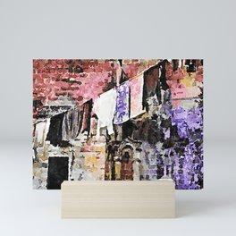 Sassi di Matera: laundry Mini Art Print
