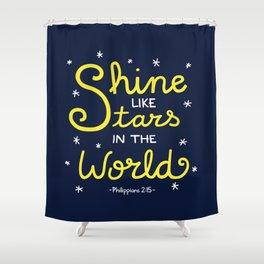 Shine Like Stars Shower Curtain