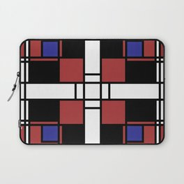 Neoplasticism symmetrical pattern in Well Read (red) Laptop Sleeve