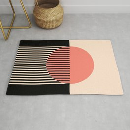 Abstraction_NEW_SUN_SUNSET_LINE_POP_ART_Minimalism_001AA Rug