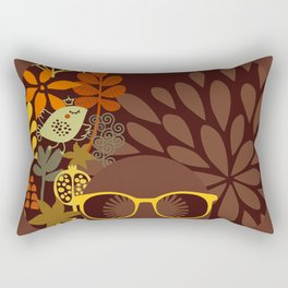 Afro Diva : Sophisticated Lady Retro Brown Rectangular Pillow