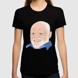 Hide Your Feelings Harold Portrait T-shirt