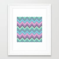 herringbone Framed Art Prints featuring Herringbone by Adikt