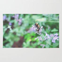 Bee in the Purple Flowers Rug