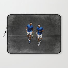 Nadal and Federer Doubles Laptop Sleeve