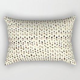 White Stockinette Rectangular Pillow