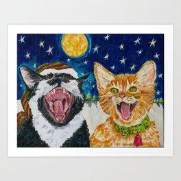 Th Catnip Singers Art Print