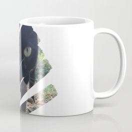 Curious Black Cat Coffee Mug
