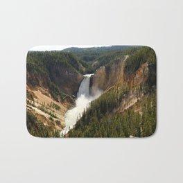 Majestic Upper Falls - Yellowstone Valley Bath Mat
