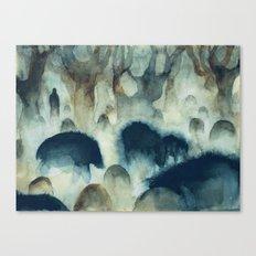 Blue Herd Canvas Print