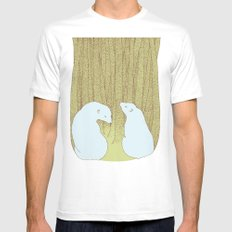 bears in the forest MEDIUM White Mens Fitted Tee