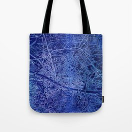 Map of Florence Italy, year 1890 Tote Bag