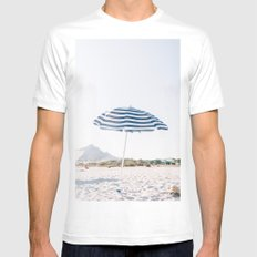 Throwing Shade MEDIUM White Mens Fitted Tee