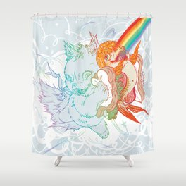 I Am Loved ( fish sandwich ) Shower Curtain