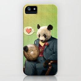 Wise Panda: Love Makes the World Go Around! iPhone Case