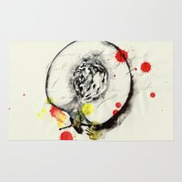 peach Area & Throw Rugs featuring Peach by Mitja Bokun