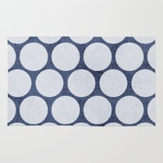 blue and white polka dots Rug
