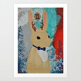 Gemini Jackalope boy Art Print
