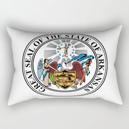 State Seal of Arkansas Rectangular Pillow